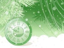Priorità bassa delle sfere di nuovo anno. Fotografia Stock Libera da Diritti