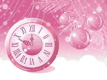 Priorità bassa delle sfere di nuovo anno. Immagini Stock