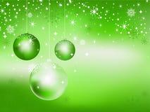 Priorità bassa delle sfere di nuovo anno. Fotografie Stock Libere da Diritti