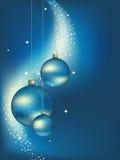 Priorità bassa delle sfere di nuovo anno. Immagine Stock