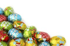 Priorità bassa delle uova di Pasqua fotografia stock libera da diritti