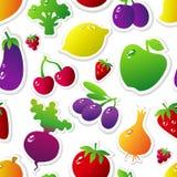 Priorità bassa delle verdure e delle frutta Fotografia Stock Libera da Diritti