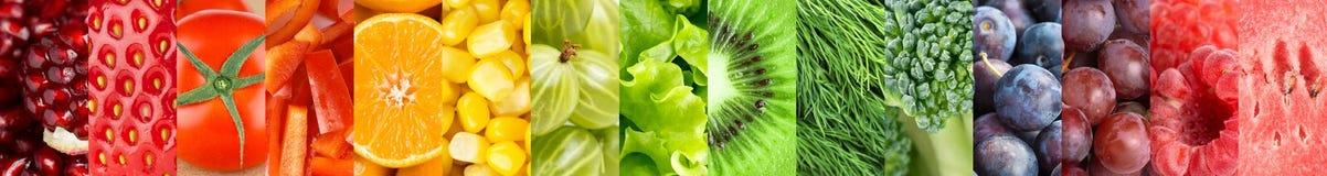 Priorità bassa delle verdure e delle frutta Fotografia Stock