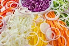 Priorità bassa delle verdure fresche del taglio Fotografia Stock