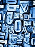 Priorità bassa dello scritto tipografico Fotografia Stock