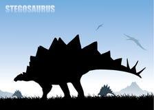 Priorità bassa dello Stegosaurus illustrazione vettoriale