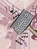 Priorità bassa dello strumento di musica Immagine Stock