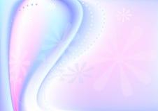 Priorità bassa dentellare bluastra ondulata con flowe trasparente Immagini Stock Libere da Diritti