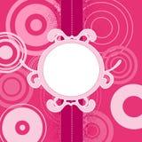 Priorità bassa dentellare con i cerchi, illustrazione Immagine Stock Libera da Diritti