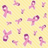 Priorità bassa dentellare del nastro del cancro della mammella Fotografia Stock