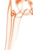 Priorità bassa di Abstrack con fumo arancione Fotografia Stock