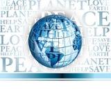 Priorità bassa di affari con il globo Immagine Stock Libera da Diritti