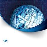 Priorità bassa di affari con il globo Immagini Stock