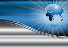 Priorità bassa di affari con il globo del mondo Immagine Stock