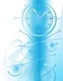 Priorità bassa di affari con l'orologio Fotografia Stock