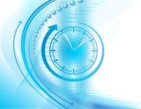 Priorità bassa di affari con l'orologio Fotografie Stock