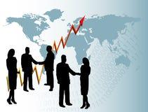 Priorità bassa di affari globali royalty illustrazione gratis