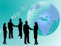 Priorità bassa di affari globali illustrazione vettoriale