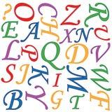 Priorità bassa di alfabeto Immagine Stock