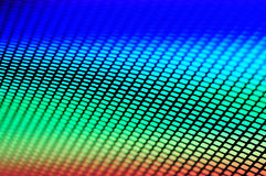 Priorità bassa di alta tecnologia multicolore e griglia Fotografia Stock Libera da Diritti