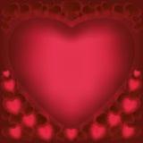 Priorità bassa di amore per il giorno dei biglietti di S. Valentino Fotografia Stock