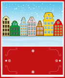 Priorità bassa di architettura di inverno Fotografie Stock