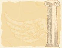 Priorità bassa di architettura greca di Grunge royalty illustrazione gratis