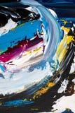 Priorità bassa di arte astratta Pittura a olio su tela di canapa Decorazione, passo Fotografia Stock Libera da Diritti