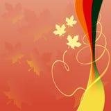 Priorità bassa di autunno con le foglie di acero variopinte Fotografie Stock Libere da Diritti