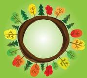 Priorità bassa di autunno dall'albero, stylized Immagine Stock