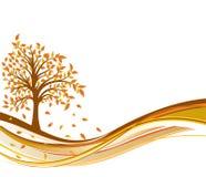 Priorità bassa di autunno dell'albero, vettore Fotografia Stock Libera da Diritti