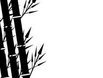 Priorità bassa di bambù della siluetta Fotografie Stock Libere da Diritti