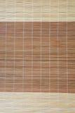 Priorità bassa di bambù della stuoia Fotografie Stock Libere da Diritti