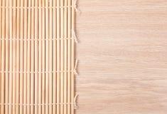 Priorità bassa di bambù della stuoia Immagini Stock Libere da Diritti