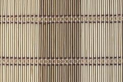 Priorità bassa di bambù della stuoia Fotografia Stock