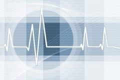 Priorità bassa di battito cardiaco Fotografie Stock Libere da Diritti