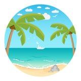 Priorità bassa di Beach.Summer Immagini Stock