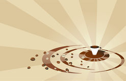 Priorità bassa di beige del caffè Immagine Stock
