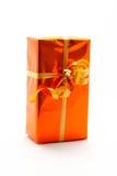 Priorità bassa di bianco del contenitore di regalo Immagine Stock Libera da Diritti