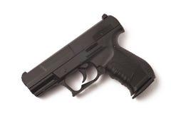 Priorità bassa di bianco della pistola fotografie stock