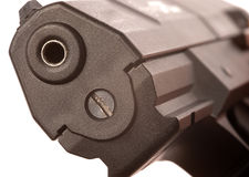 Priorità bassa di bianco della pistola fotografia stock