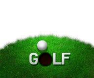 Priorità bassa di bianco di golf Fotografie Stock Libere da Diritti