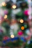 Priorità bassa di Blured di un albero di Natale Fotografia Stock Libera da Diritti