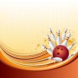 priorità bassa di bowling Fotografia Stock