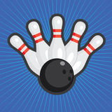 Priorità bassa di bowling. Immagini Stock Libere da Diritti