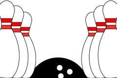Priorità bassa di bowling Fotografie Stock Libere da Diritti