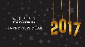 Priorità bassa di Buon Natale e di nuovo anno felice Fotografia Stock