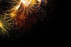 Priorità bassa di burst del fuoco d'artificio Fotografia Stock Libera da Diritti