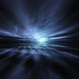 Priorità bassa di burst della stella blu Immagine Stock