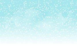 Priorità bassa di caduta della neve Paesaggio di festa con le precipitazioni nevose Illustrazione di vettore Cielo di nevicata di illustrazione di stock